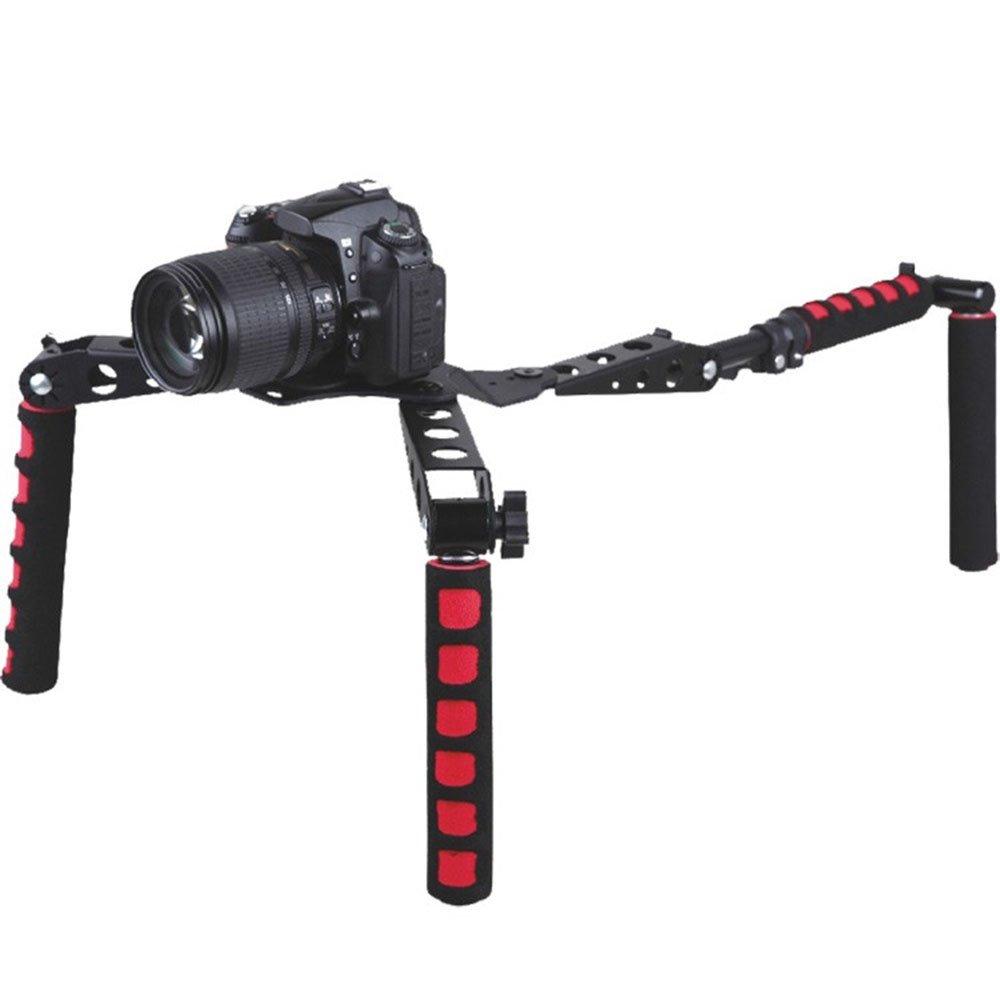 Red DSLR Rig Shoulder Mount Steady Rig Handheld Stabilizer Camera Shoulder Support Bracket for DV Camera Camcorder by None