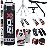 RDX Punching Bag Filled Wall Bracket Boxing Training MMA Heavy Punch...
