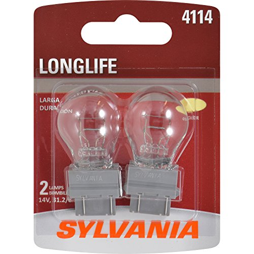 (SYLVANIA - 4114 Long Life Miniature - Bulb, Ideal for Daytime Running Lights (DRL) and Back-Up/Reverse Lights (Contains 2 Bulbs))