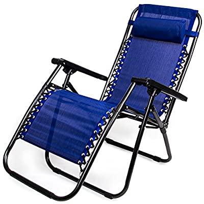 Zero Gravity Outdoor Folding Lounge Chair with Pillow by Sol Costal