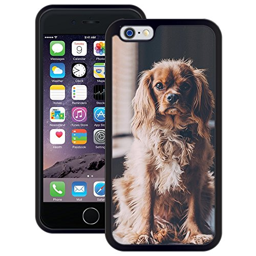 Cavalier King Charles Spaniel | Handgefertigt | iPhone 6 6s (4,7') | Schwarze Hülle