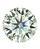 VS2 Clarity 3.09 Ct Loose Moissanite Fancy Light Greenish Color Amazing Round Brilliant Cut