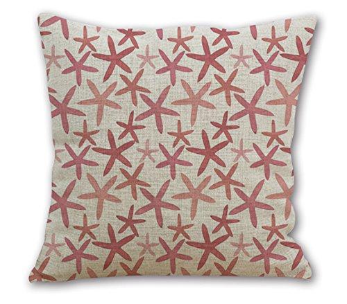 OneMtoss16Inches Cotton Cushion Starfish Pattern