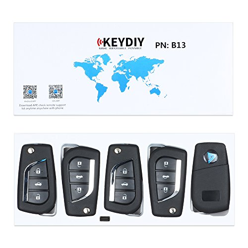 Keyecu 5PCS Universal Remote B-Series for KD900 KD900+,KEYDIY B-Series Remote for B13