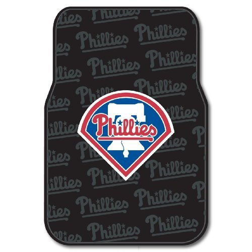 (MLB Philadelphia Phillies Auto Front Floor Mat, 2-Pack)