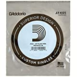 D'Addario J7401Plain Steel Mandolin Single String, First String, .011