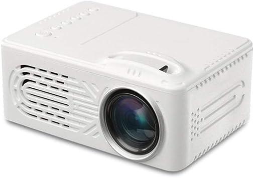 JIANGNAN Mini proyector, microprocesador de Mano LED, batería ...