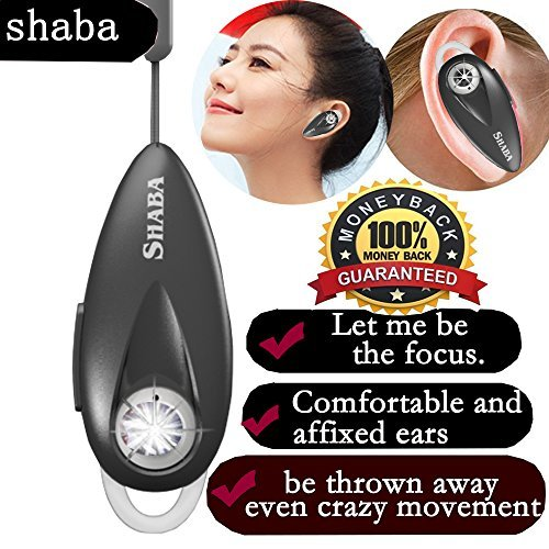 Wireless Bluetooth Headset - Mini Noise Cancelling Car Bluetooth Headset Invisible with Mic Cell Phone Bluetooth Earpiece Compatible with iPhone Samsung Android, and Other Leading Smartphones(Black)