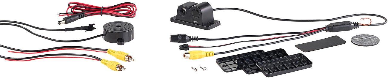 90/°-Bildwinkel Abstandswarner Lescars R/ückfahrkameras: Farb-R/ückfahrkamera und Einparkhilfe Parkhilfe