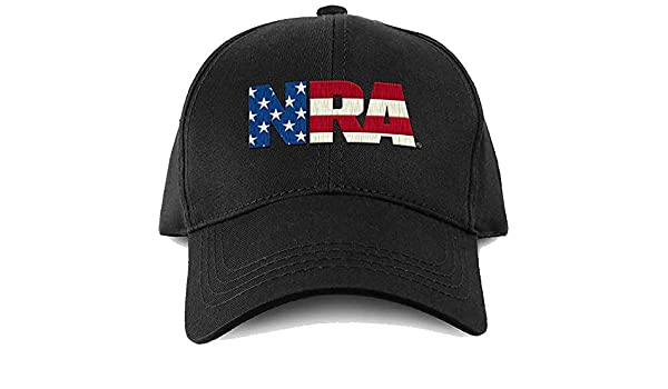 acddec9de Amazon.com: NRA Hat National Rifle Association USA Flag Fill Logo ...