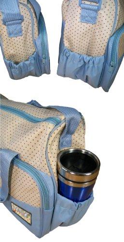 Bomio Bolsa de pañales de 5 piezas, con mucho espacio azul azul claro azul claro
