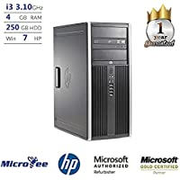 HP Desktop Compaq Pro 6200 MT Core i3-2100 3.10GHz 4GB 250GB HDD DVD+RW Win 7 H P (Certified Refurbished)