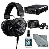 Beyerdynamic DT 1990 PRO 250 Ohm Headphones with Amplifier + Cleaner + Fibertique Cloth Bundle