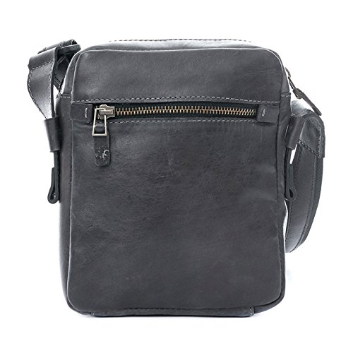 Amazon.com | VÉLEZ 20240 Men Genuine Leather Crossbody Bag | Bandolera De Cuero Gray | Backpacks