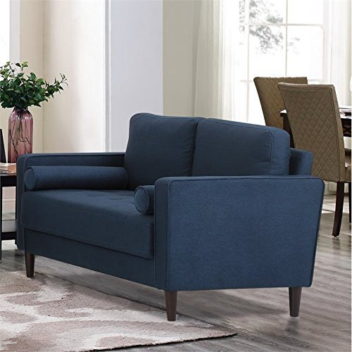 Lifestyle Solutions LK-LGFSP2GU3051 Lexington Loveseat in Navy Blue