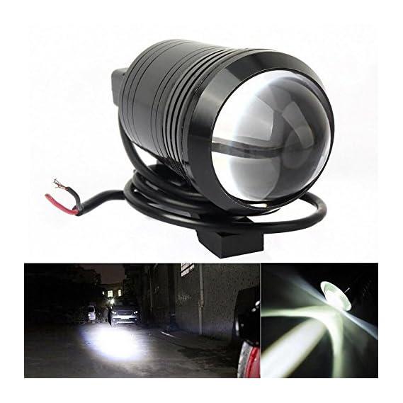 Guance Motorcycle U1 Cree LED 15W Bike Fog Spot Light Lamp White (Pack of 2) for Yamaha YZF R15 V3