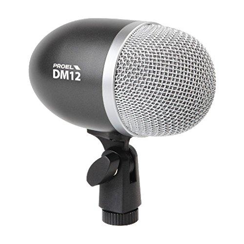 5 opinioni per PROEL DM12 Microfono dinamico professionale per strumenti e supporto montaggio