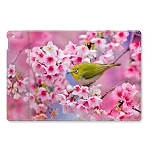 A Bird on the Pink Cherry Blossom Leather Cover for iPad Air 2 by ruishername