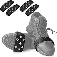 Crampon Traction Cleats Anti-Skid Traction Grips Crampons Spikes 7 Point Cleats for Footwear for Walking, Jogg