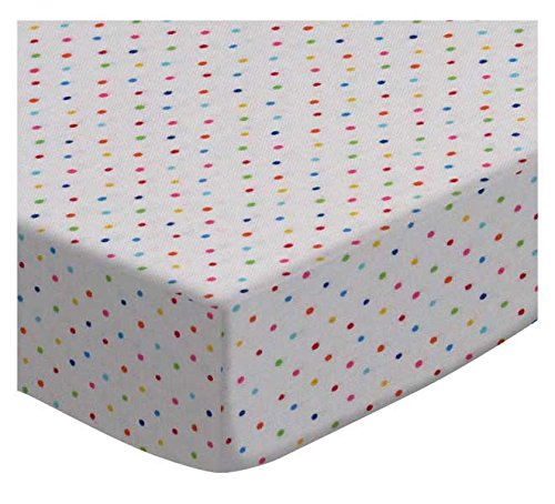 SheetWorld Fitted Cradle Sheet - Primary Colorful Pindots Woven - Made In USA