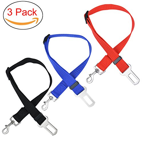 Dod Seatbelt, Adjustable Pet Car Safety Seat Belt Nylon Dogs Leads Vehicle Seatbelts, 3 (Adjustable Safety Belt)