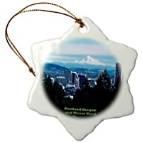 Christmas gift Portland Oregon With Mount Hood Of The Cascade Range Xmas Porcelain Decor Ornament Home Decorations Hanging Crafts