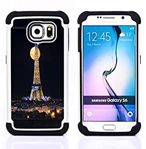 - Paris Tower Retro Vintage - - Fulland Deluxe Hybrid TUFF Rugged Shockproof Rubber + Hard Case Cover FOR Samsung Galaxy S6 G9200 Queen Pattern