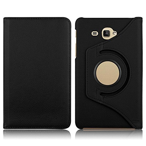 KANICT Roted Tablet Front   Back Flip Cover Compatible for Samsung Galaxy J Max Volte/Tab A6 7.0 T285 T280  Black