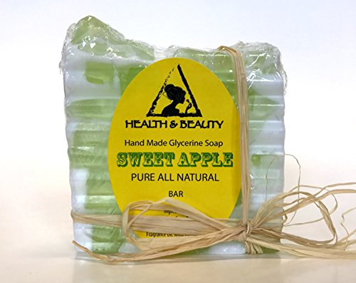 Sweet Apple Soap Bar Hand Made Natural Relaxing Calming Moisturizing Body and Skin 100% Pure