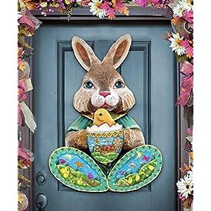Easter Bunny Rabbit - Easter Bunny Wreath - Front Door Wreath Spring Decoration - Wooden Door/Wall Decor by G.DeBrekht #8144502H 1