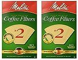 melitta pour over ceramic - Melitta 612412 #2 Natural Brown Cone Coffee Filters 40 Count