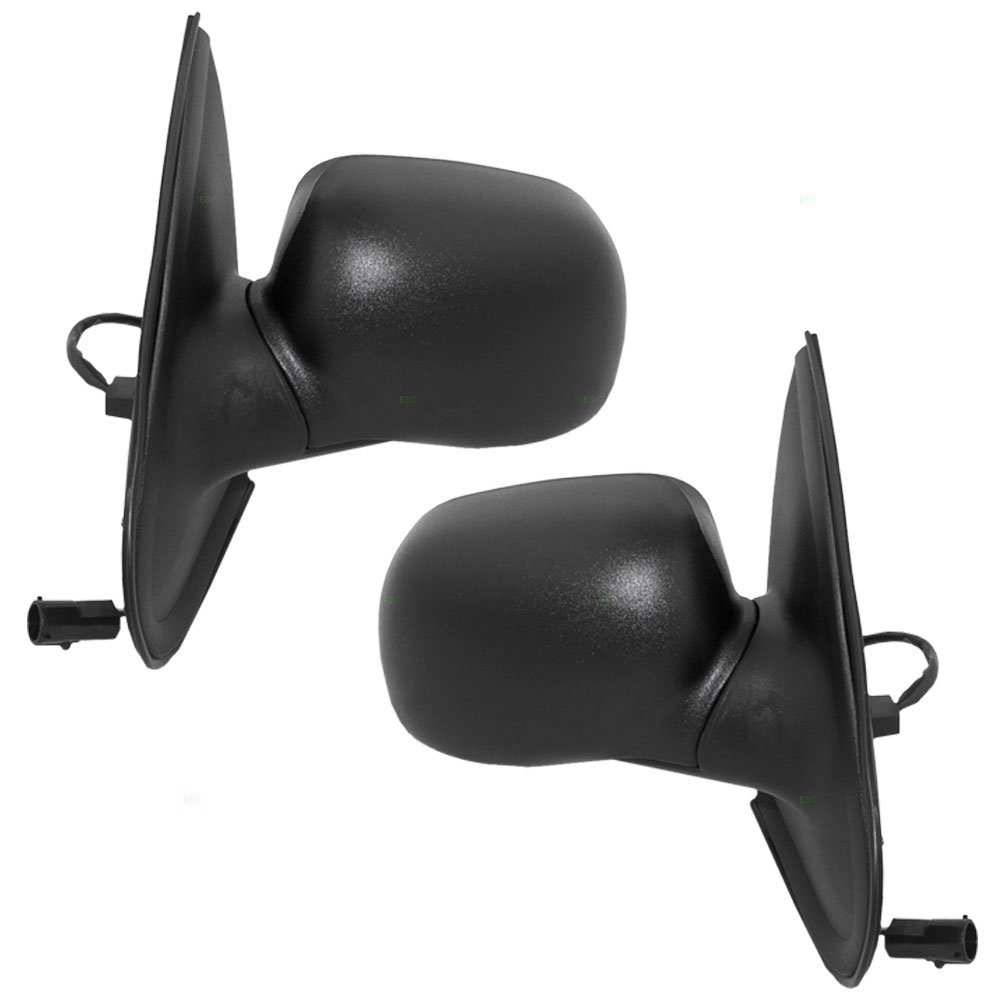 Driver and Passenger Power Side View Mirrors with Puddle Lamp Replacement for Ford Mercury SUV F87Z17683AAB F87Z17682AAA