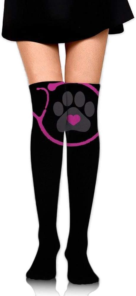 Unisex Unicorns Rainbows And Hearts Pattern Knee High Compression Thigh High Socks Tube Socks