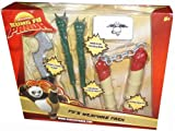 : Dreamworks Kung Fu Panda Po's Weapon Pack with Double-Edged Blade, Dragon Chopsticks, Warrior Headbands and Nunchucks