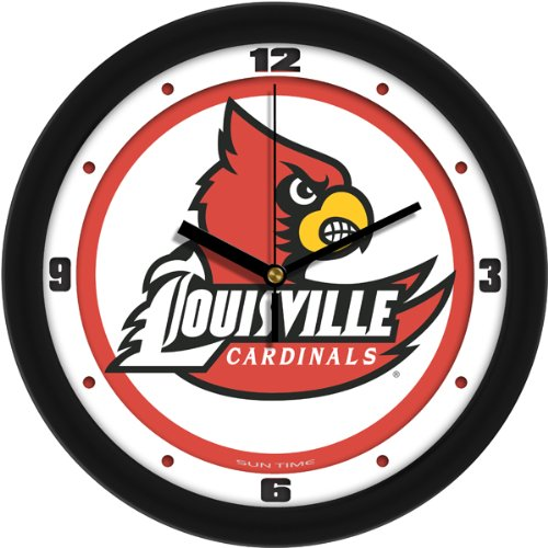 SunTime NCAA Louisville Cardinals Traditional Wall Clock