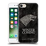 Official HBO Game Of Thrones Stark Dark Distressed Sigils Hard Back Case for Apple iPhone 7