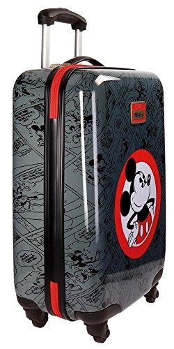 Disney Hello Mickey Maleta, 68 cm, 97 litros, Set de 2, Negro