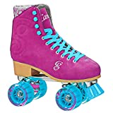 Roller Derby Candi Girl U774 Carlin Quad Artistic Roller Skates Raspberry Ladies sz 3