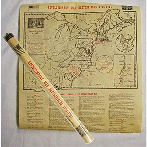 Americana Souvenirs Historic U.S. Document Reproduction: Revolutionary War Map