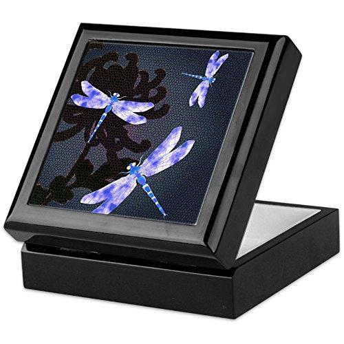 CafePress - Dragonflies - Keepsake Box, Finished Hardwood Jewelry Box, Velvet Lined Memento Box