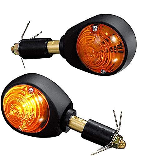 gelb Multipurpose Unisex Metall ShinYo Motorradblinker Lenkerendenblinkerpaar Ochsenauge 12V schwarz Ganzj/ährig