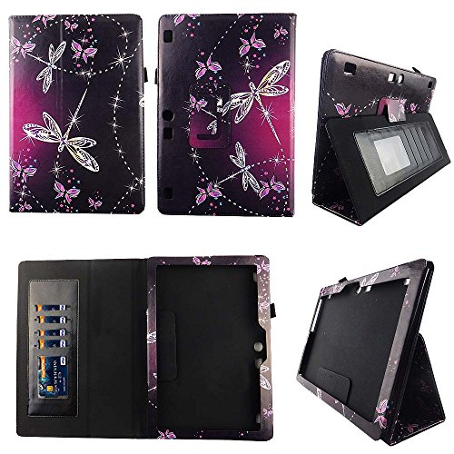 Plus Poly Portfolios (Sparkly Butterfly Lenovo Tab 10 / Lenovo Tab 2 A10 Case Premium PU Leather Folio Cover for Lenovo Tab2 A10-70 / Tab2 A10-30 / Tab 3 10 Plus / Tab 3 10 Business / TAB-X103F Tab 10 w Auto Sleep/Wake St)