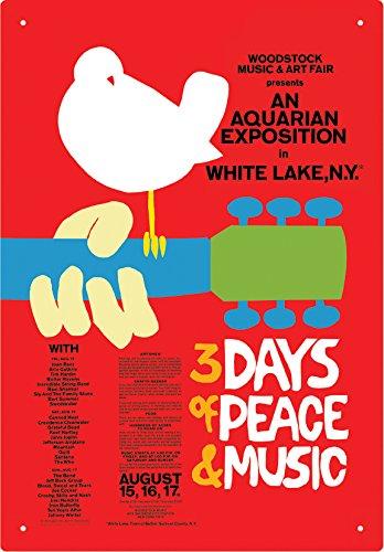 (Aquarius Woodstock Red Tin Sign)