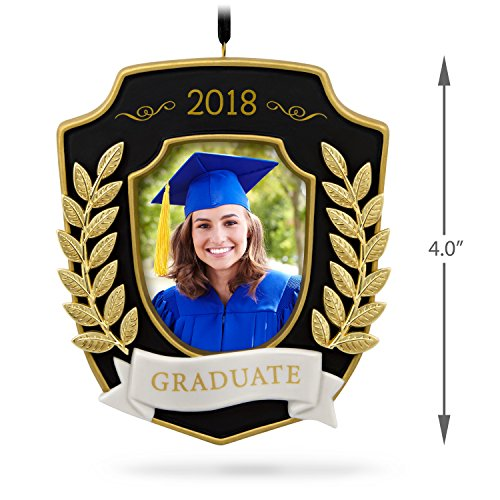 Hallmark Keepsake Christmas Ornament 2018 Year Dated Graduation Gift Congratulations Porcelain and Metal Picture Frame, Photo Frame by Hallmark (Image #4)