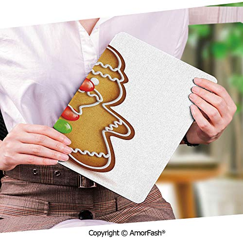(Printed Ultra Lightweight Protective Stand Cover for Samsung Galaxy Tab S2 9.7 Case,Gingerbread Man,Whimsical Cartoon Santa Gingerbread Man with Bonbon Candies Decorative,Light Brown Red Green)