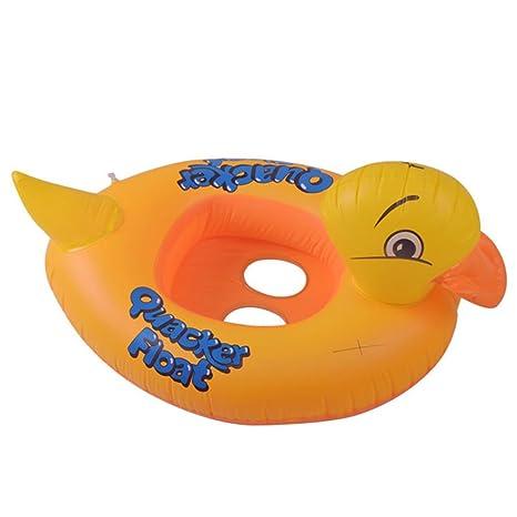 PZJ® Flotador bebe, Pato hinchable colchonetas Piscina, Piscina bebe Flotador Hinchable para piscina