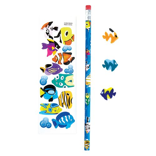 Tropical Fish Stationery Sets (1 dz) (Bags Goody Tropical Fish)