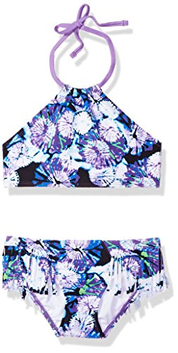 Kanu Surf Big Girls' Mahina Beach Sport Halter Bikini 2-Piece Swimsuit, Okana Purple, 10 ()