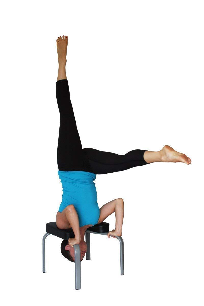 pr/áctica de Yoga JIAL-SMEIL Yoga Headstand Bench Almohadillas de Madera y PU Gimnasio Aliviar la Fatiga y acumular Cuerpo Stand Yoga Chair para Familia