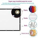 Indoor Outdoor Projector Screen, 84 Inch Portable